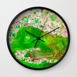 The Flower Garden of Klimt Wall Clock