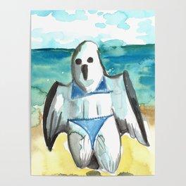 bikini ghost Poster