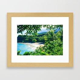 Hamoa Beach Hana Maui Hawaii Framed Art Print