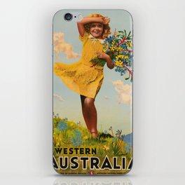 Western Australia vintage travel ad iPhone Skin