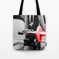 sewing Tote Bags featuring Sewing Machine by Four Hands Art