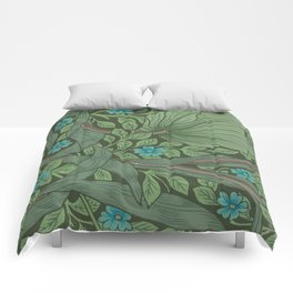 "William Morris ""Forget-Me-Nots"" (""Pimpernel"" detail) Comforters"