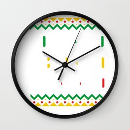 Black History Month Educated Liberated Melanated Pride African Wall Clock