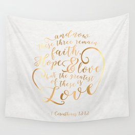 Faith, Hope & Love Wall Tapestry