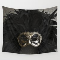 carnival Wall Tapestries featuring Carnival mask by VanessaGF