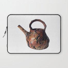 Photograph of Red Stoneware Teapot, Ceramic Art [Rostislav Eismont] Laptop Sleeve