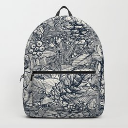 forest floor indigo ivory Backpack