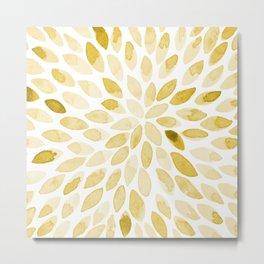 Watercolor brush strokes - yellow Metal Print
