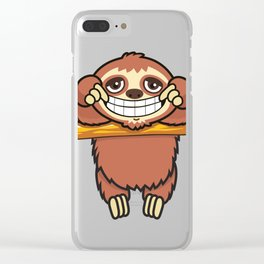 Happy Sloth! Clear iPhone Case