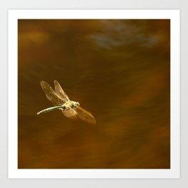 Dragonfly In Flight #decor #society6 Art Print