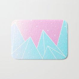 Sparkly Blue Crystals Design Bath Mat
