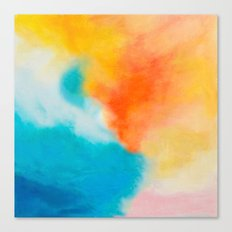 Endless Summer Abstract Painting Canvas Print