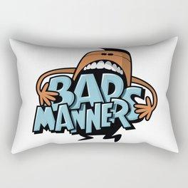Bad Manners Rectangular Pillow