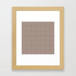 Aztec and White Polka Dots Framed Art Print