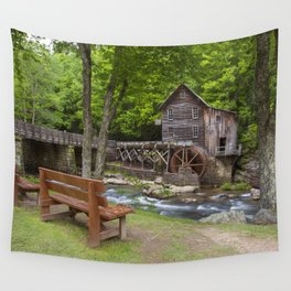 Glade Creek Grist Mill In Summer Wall Tapestry