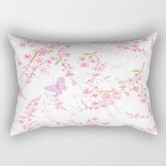 cherry blossom shadow Rectangular Pillow