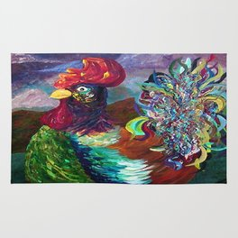 Rooster on the Horizon Rug
