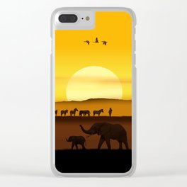 Morning in the African savannah Clear iPhone Case