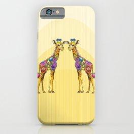 Giraffe Friends iPhone Case