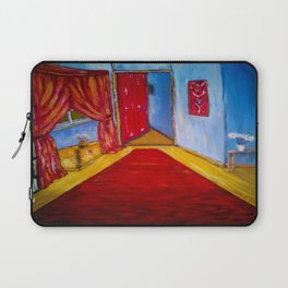 Down the Blue Passage with Flowers Laptop Sleeve