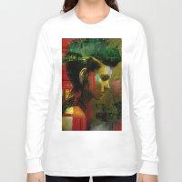 british Long Sleeve T-shirts featuring Under a British rain by Ganech joe