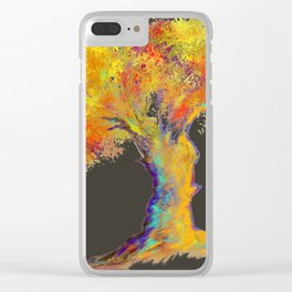 Colorful Tree - bc Clear iPhone Case