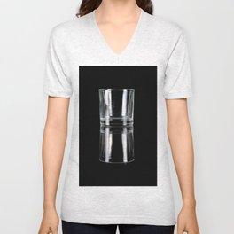 glass on black Unisex V-Neck