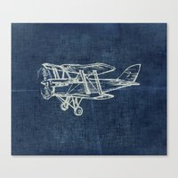 plane Canvas Prints featuring Plane by Mr & Mrs Quirynen