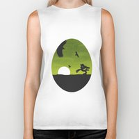 egg Biker Tanks featuring Egg by Broenner