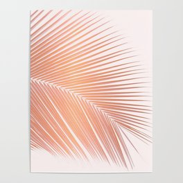 Palm leaf - copper pink Poster