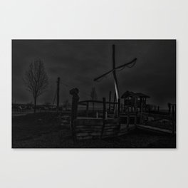 Ghost Ship in Black and White - Art Photography Canvas Print