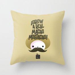 macho mostacho  Throw Pillow
