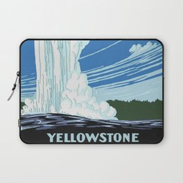 Vintage Yellowstone National Park Travel Laptop Sleeve