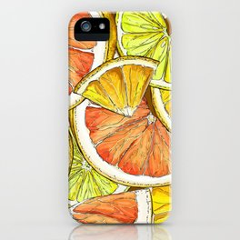 Lemon Slice Pattern iPhone Case