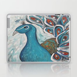 Blue Peacock with Blue Laptop & iPad Skin
