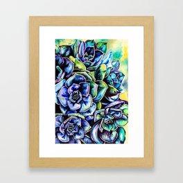 Watercolor Succulents art painting Framed Art Print