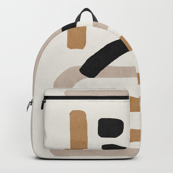 Abstract shapes art, Mid century modern art Backpack