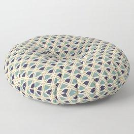 DECO - teal navy gold ivory diamond artdeco pattern Floor Pillow
