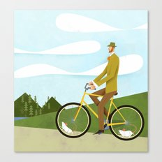 Road Cycling With Rodent Power Poster Canvas Print