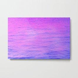 NEON PINK AND PURPLE GRADIENT OCEAN PATTEN Metal Print