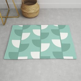 Pastel Green Slices in The Summer Shade Rug