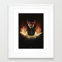 infamous Framed Art Prints featuring InFAMOUS: Delsin Portrait by Masood Tahir
