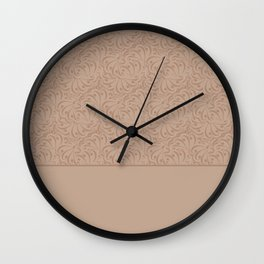 Abstract solid beige pattern . Wall Clock