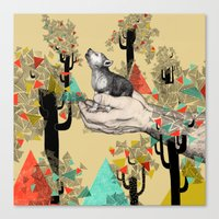 facebook Canvas Prints featuring Found You There  by Sandra Dieckmann
