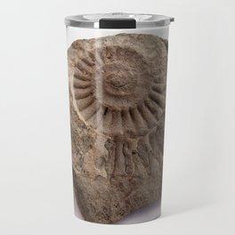 Ammonite of stone. Travel Mug
