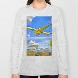 Airliner Pop Art Long Sleeve T-shirt
