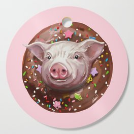 Pig Chocolate Donut Cutting Board