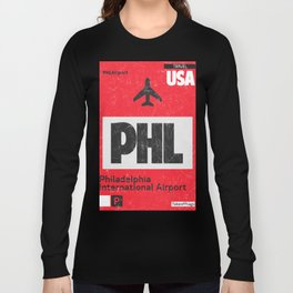 PHL RED airport code Long Sleeve T-shirt