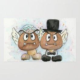 Goombas Bride and Groom, Nintendo Geek Wedding Rug
