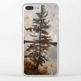 The Jagged Tree Clear iPhone Case